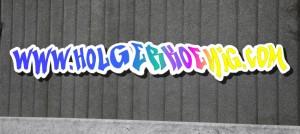 Graffiti-Schriftzug mit IWarp bearbeitet