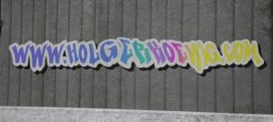 Graffiti-Schriftzug mit Transparenz